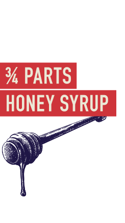 ¾ Parts honey syrup