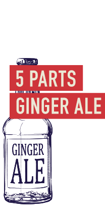 5 Parts ginger ale